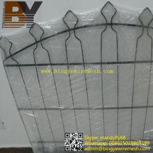 Valla de alambre doble ornamental recubierta de PVC