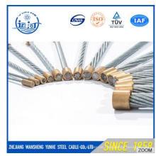 Hochwertiger Stahldraht verseilt 7 / 0,8mm für die Herstellung von optischem Kabel
