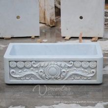 Custom-Made Kitchen Bathroom Natural Quartz Stone Sink (Factory Supplying)
