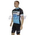 Fashion Men′s Short Sleeve Team Sky Sublimation Cycling Jersey Set