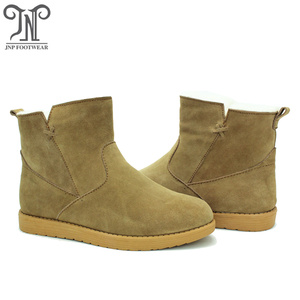 factory customized for Womens Winter Boots Best selling winter warm sheepskin boots with zipper export to Belgium Importers