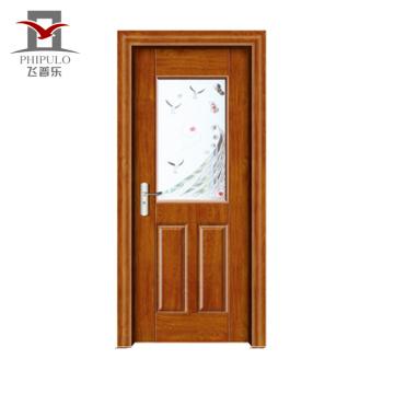 2018 alibaba venda quente melhor preço mais recente porta de madeira de aço design