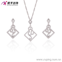 63401 Xuping jewelry Lastest original design fashion sliver color ladies jewelry sets 2017 best selling jewelry set