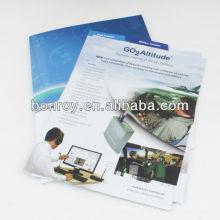 Carpetas de archivos de papel personalizados que imprimen / carpetas de presentación