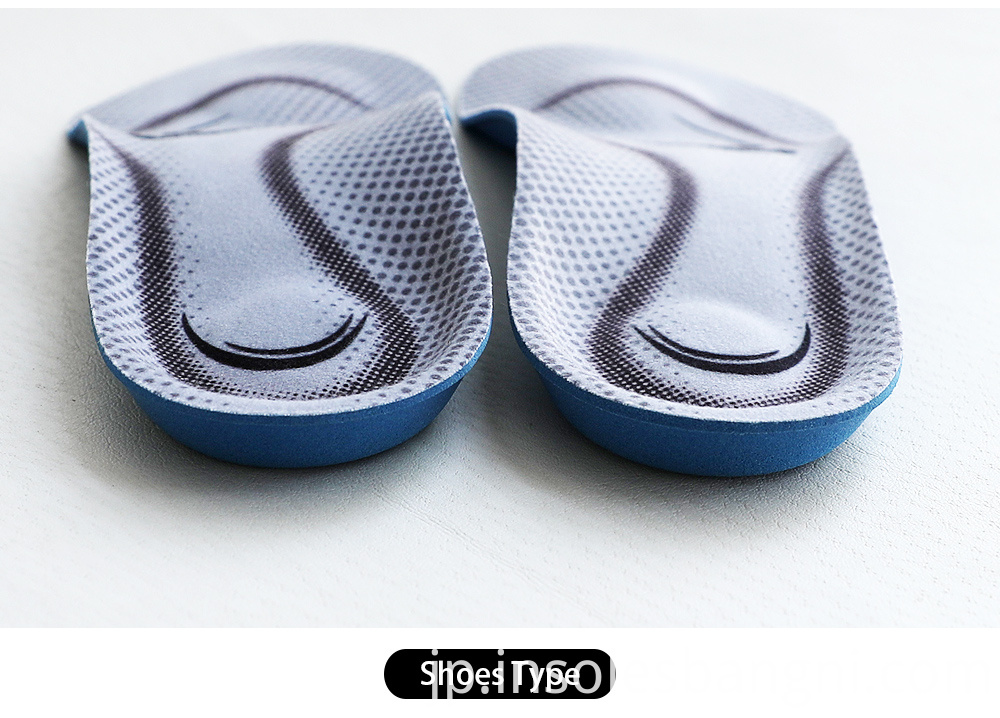 3/4 orthotic insoles