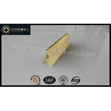 Aluminium Gold Bright Corner Edge Trim Profile