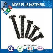 Feito em Taiwan Black White Nylon Round Phillips Slotted Plastic Round Head Screw