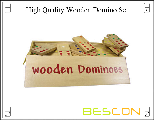High Quality Wooden Domino Set