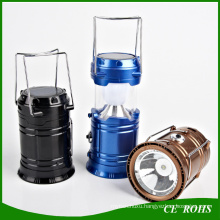 Portable Flodable Solar LED Camping Lantern Lamp with Handle