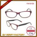 Eco-Friendly Optic Acetate Multi-Color Newest Designer Glasses (FA15013)
