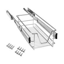 Rack de armazenamento de prato de cozinha telescópico