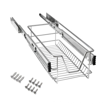 Telescopic Kitchen Dish Storage Rack Pull Out Drawer