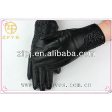 2016 chaud hiver femme cabretta en cuir gants