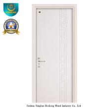 Porta moderna da madeira maciça do estilo com cor branca para o interior (ds-091)