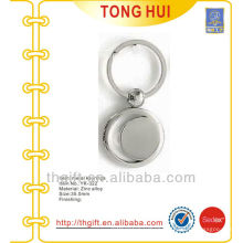 Round plate smooth keychains/keyrings blank