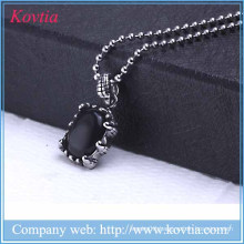 2015 new products jewellery india black resin pendant necklace titanium steel diy charms