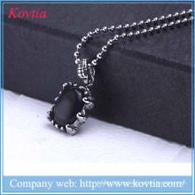 2015 novos produtos jóias india preto resina pingente de colar de titânio de aço diy encantos