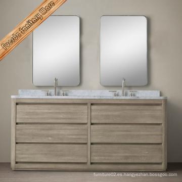 Gabinete de baño de madera maciza de diseño clásico