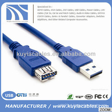 Supper Speed ​​USB 3.0 A Masculino para Feminino Extensão Data Sync Cabo Cabo 5Gbps NOVO