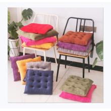 Hot sale Crystal velvet square strap chair cushion non-slip warm meditation cushion