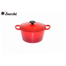 Cafetière en fonte émaillée rouge de 23,5 cm