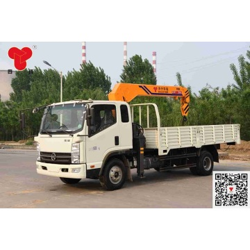 5 ton truck with boom crane