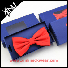 Red Custom Bow Tie Gift Box in Navy Necktie Storage Box