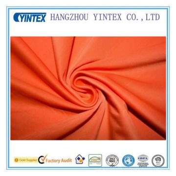 Naranja 4 Way Stretch traje de baño Spandex Activewear Tela