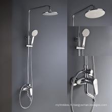 Mélangeur thermostatique de valve de douche de pomme de douche de pluie avec le mélangeur de douche caché par jet de jet de corps