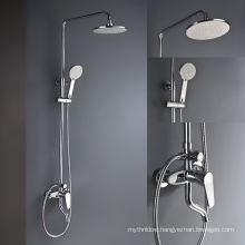 Rain Shower Head Thermostatic Shower Valve Mixer With Body Jets Spray Concealed Shower Mixer