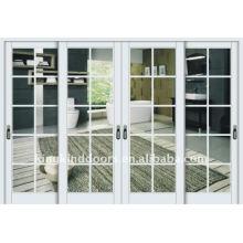 porta de vidro de moldura de alumínio deslizante KKD-914