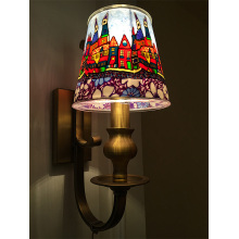 Good Design Iron Wall Lamp with Colorful Glass Shade (SL2091-1W)