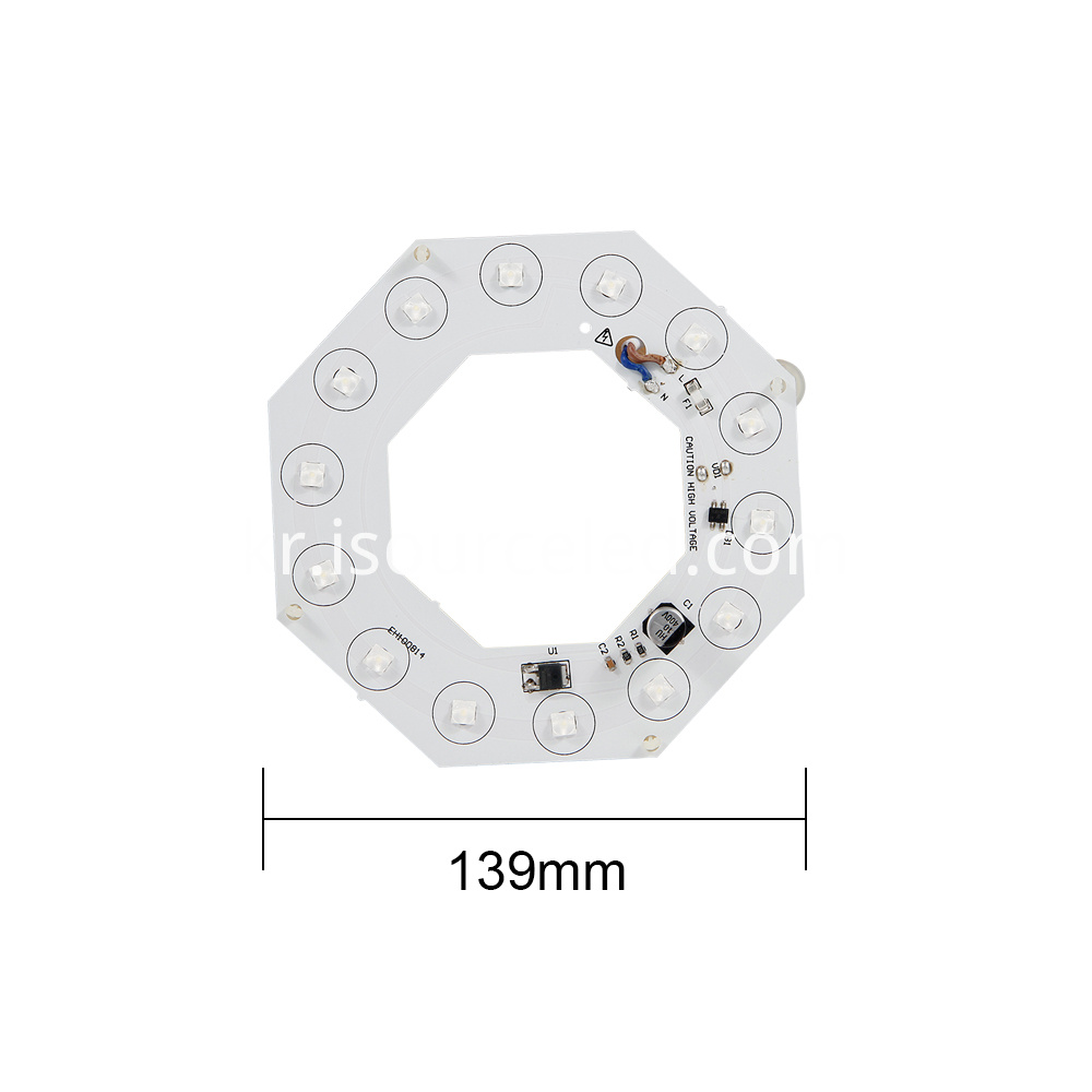 Bottom picture of AC 220v Lens round 14W AC LED Module