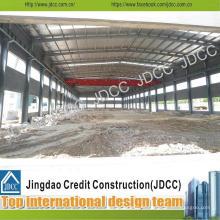 Structure en acier entrepôt avec des panneaux composites de ciment