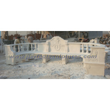 Carved Stone Marble Garden Chair for Outdoor Furniture (QTC035)