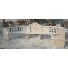 Esculpida pedra mármore cadeira de jardim para móveis ao ar livre (qtc035)