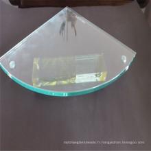 Coin de verre trempé de meulage, verre de feuille avec le perçage