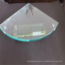 Prateleira de canto de moedura do vidro temperado, vidro de folha com perfuração