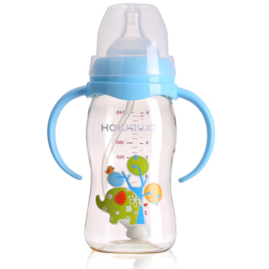 Baby Trainer Rutschfeste Griffe Flaschenzubehör für Babyflasche Flaschen Neu
