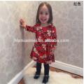 Neue Design-Kinder-Abendkleid-Weihnachtsfest-Kleider in China-Baby-Kleid in der roten Farbe