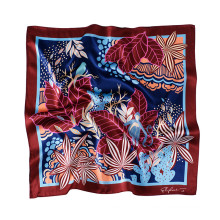 lenço quadrado de seda de amora 6A 100% puro personalizado