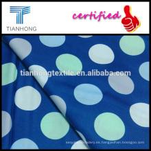 Fondo azul 100 algodón con tela satén teñido reactivo coloridos lunares vestido ropa