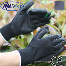 NMSAFETY sandy finish nitrile working gloves 707