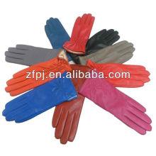 Fashion ladies fausse usine de gants en cuir PU