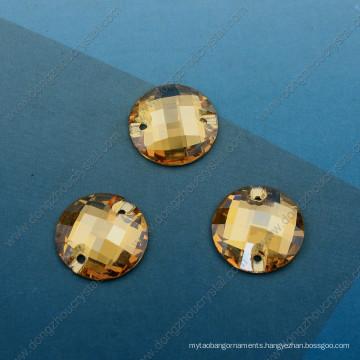 Golden Shadow Round Stone Crystal Fashion Components (DZ-3043)