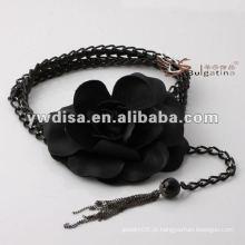 Cintura da flor das mulheres da forma no plutônio com projeto do tassel da corrente o melhor de YIWU DISHA