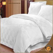Tissu de coton blanc blanchi pour le linge de lit