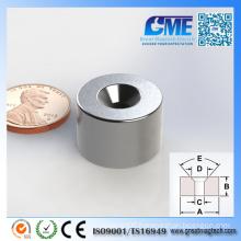 N40 D19.05X12.7mm Strong Counterboye Ring Neodymium Magnet