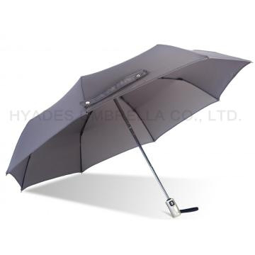 Grey Auto Open and Close Folding Umbrella Windproof