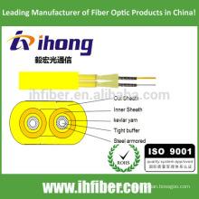 Fibre optique Flat Twin Duplex Military Tactical Armored Indoor Cable